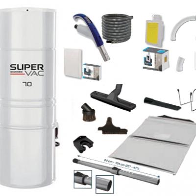 Centrale SuperVac 70 + Rétraflex Speed Flex