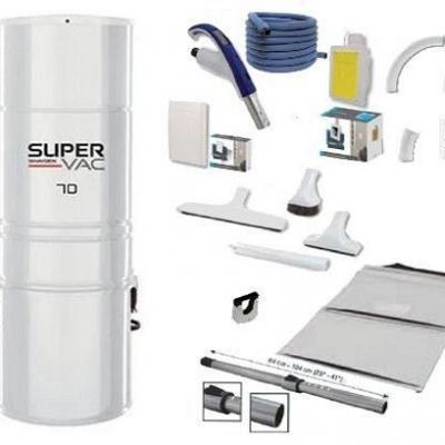 Centrale SuperVac 70 + Rétraflex Soft Touch