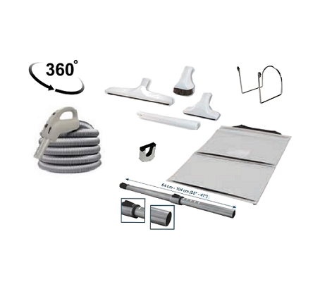 C2 1 flexible jet trousse d accessoires blancs